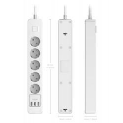 Ciabatta x5 AC x3 USB 240V 0.5A