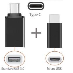 Adattatore da MicroUSB a USB 3.1 Type C M/M