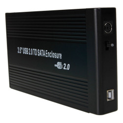 """Box Hard Disk Esterno IDE SATA 3.5"""" Combo USB 2.0 Alluminio"""