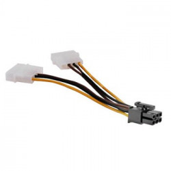 10pz Cavo 2x4pin Molex a 6pin PCIExpress