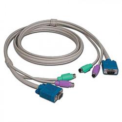 KVM, VGA-PS/2 3,0m