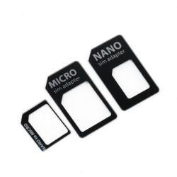 Adattatore Convertitore Slim 4 in 1 per Nano Micro Sim Smartphone Tablet
