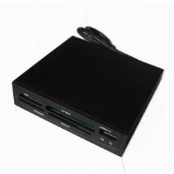 """Card Reader frontale 3,5"""" con lettore Card e porta USB 2.0"""
