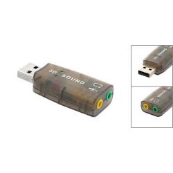 Adattatore da USB a Jack Audio/Mic - Scheda Audio Esterna USB - 5.1 canali