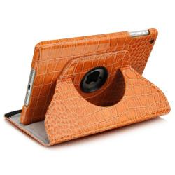 Leggio/Stand/Custodia CROCODILE Apple iPad 2/3/4 -PU Rotazione a 360° ORANGE