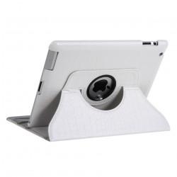 Leggio/Stand/Custodia CROCODILE Apple iPad 2/3/4 -PU Rotazione a 360° WHITE