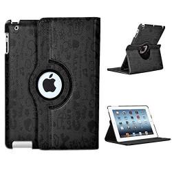 Leggio/Stand/Custodia FANTASY Apple iPad 2/3/4 -PU Rotazione a 360° BLACK