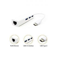 Hub USB Type C 3 Porte USB 3.0 e 1 porta Ethernet