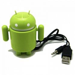 Altoparlante portatile forma ANDROID alimentazione USB