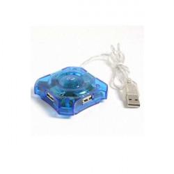HUB USB 2.0 4 Porte Design Essenziale Trasparente Quadrangolare