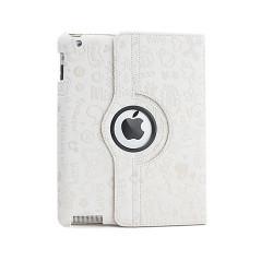Leggio/Stand/Custodia FANTASY Apple iPad 2/3/4 -PU Rotazione a 360° WHITE