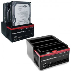 "HDD Docking Station USB2.0 Triplo Slot Per Hard Disk 2.5"" e 3.5"" (1x IDE - 2x SATA)"